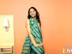 My Sexy Divya brings you a hell of a free porn video where you can see how this alluring brunette temptress strips and provokes while assuming very naughty poses.
