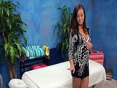 Our hidden spy cameras caught Riley the massage therapist giving more than the massage!