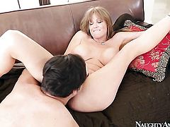 Anthony Rosano loves glammed up Darla CraneS wet wet spot and bangs her as hard as possible