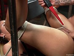 liv is tied up in the dungeon