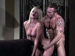 Riley Steele licks a boner and enjoys ardent rear banging