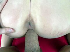 Marvelous babe aroused as her pussy gets fingered then gives a steamy blowjob and a tit fuck before getting drilled doggystyle