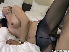 This horny Asian lady loves to play with a hot college stud's huge cock for a hardcore doggystyle fuck in a hot orgasm.