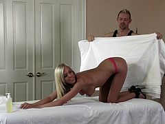 Lovely porn beauty BiBi Jones in a hot and hardcore fuck massage