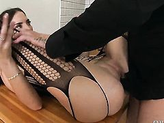 Lyen Parker enjoys another hardcore anal session with David Perry after she gets her throat used