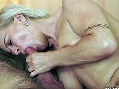 lusty mature granny enjoys her pussy licked then gives nasty blowjob before being nailed hardcore in mature amateur action