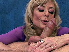 This is a hot blowjob and bang scene with a horny sweet hottie sucking a huge cock for a hot and huge cumshot load.