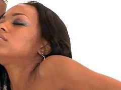 Fishnet Clad Nubian Stunner Tila Flame gets It big in the brown tunnel
