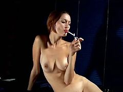 Smoking Bunnies brings you a hell of a free porn video where you can see how this sexy brunette slut smokes and poses for you while assuming very naughty positions.