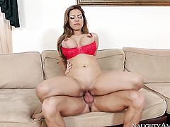 Yurizan Beltran cant resist the temptation to take Ryan Mclanes sturdy cock in her vagina
