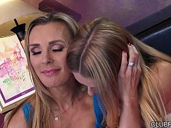 Natalia Star helps Tanya Tate in a moment of need, with something much more intimate than a shoulder! in this 33 minute, Tanya gets to bury her sorrows between Natalia's sexy thighs, for a sure-fire cure to any kind of heart ache. It doesn't matter whether she wants to lick, be licked, or even if she likes her lesbian fucking with a side of foot play - nobody's judging in this seductive sexual sanctuary!