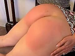 big ass employee spanked hard
