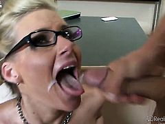 Kevin James cant wait any more to stuff his cock in breathtakingly sexy Shawna Lenees mouth