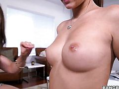 Chachita with bubbly booty makes her sex fantasies a reality with lesbian Kylie Rogue