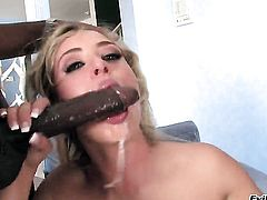 Sinfully sexy tart gets her beaver attacked by hard meat stick