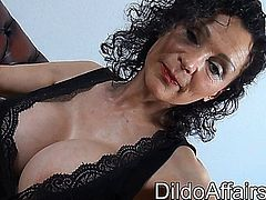 Michaela anally plays with a big-black-dildo an some anal-spheres - She also performed in couple with PBD (Penelope-Black-Diamond)