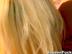 Checkout these two hot and horny lesbian playing with their pussies. One is a hot blonde the other an awesome redhead busty milf Jayden James. Watch these babes in this hot lesbian sex video. Enjoy!
