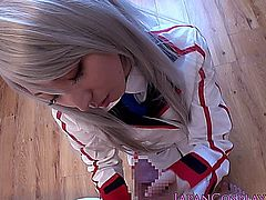 Cosplay Angel Kanade Tachibana is spoiling cock in POV at the afterlife school