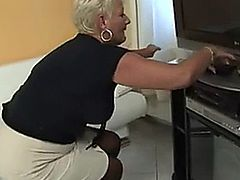 horny older foreign broad bangs a lucky cable guy