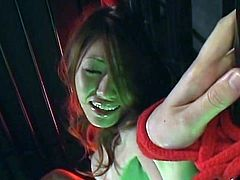 Awesome asian nymph together near an extremely furry tunnel and great jugs has her clitoris aroused by A magic-bullet toy till she cums. Her bf is all to eager to please her and have her wet.