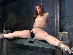 Hard Tied brings you a hell of a free porn video where you can see how this sexy redhead slave gets bound and tortured while assuming very naughty positions.