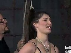Hard Tied brings you a hell of a free porn video where you can see how this sexy slave gets bound and tortured by her master while assuming very naughty positions.