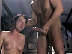 Nacho Vidal fucks Melissa Lauren in her mouth as hard as possible in oral action after anal sex