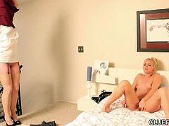Aaliyah Love and Sovereign Syre all but set the bed on fire, in this smoking hot scene from Carrie's Secret. Aaliyah has her fantasies about the women she teaches at her dance school, but she also has her reality... a curvy girlfriend, who walks in on her masturbating, and joins her in bed to start the fun for this 18 minute lesbian scene.  You can't miss the affection on display, but neither can you miss the continued longing for something new...