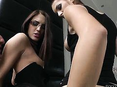 Lyen Parker lets Omar Galanti shove his tool in her bum hole before she gives blowjob