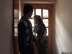Old grandma is lonely at her house and she want something not boring like booty calling her younger neighbor boytoy and having a great fuck in the afternoon.