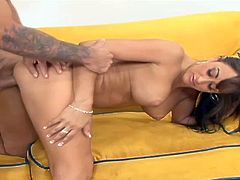 Claudia Valentine gets her pussy and mouth fucked deep in reality clip