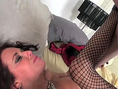 Sultry Veronica Avluv is a high end real estate agent showing young Jake Taylor a house that she eventually realizes he cant afford
