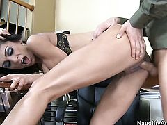 Persia Pele with juicy breasts and Tommy Pistol have a lot of fun in this sex action