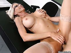 Giovanni Francesco admires incredibly sexy Emma Starrs body before she takes his pole in her muff