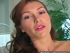 The amazingly alluring Heather Vandeven know, you have your dick in your hand. She want to see, how you can jerk off for her. She teases you and shows off her lovely pantyhose covered legs and feet. She is a naughty girl and she wants you, to bust your sticky nut all over the screen, as she flashes her crotch.