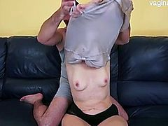 Anal sex with an old blond granny