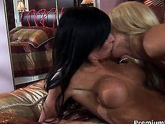 Kenzi Marie and Cassie Young spend time having lesbian sex