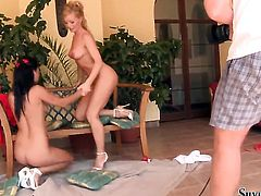 Jewel A and Silvia Saint both have great lesbian sex experience