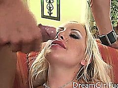 Big titted Savannah get serviced in all her hot holes by a large cock