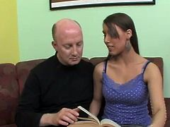 Natasha wants the bit of help passing her class as she doesn't understand any of the text but as she doesn't have the money to hire the tutor she has to find another way to pay and luckily for her the tutor has no problem accepting payment inside the form of the blowjob so she wraps her sexy lips around his mature horn and has down to business.