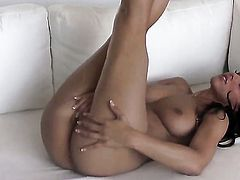 Angel Dark shows her private parts