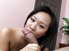 Kimmy Thai is on the way to orgasm with mans rock solid worm in her wet hole