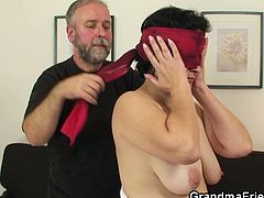 Grandma Friends brings you very intense free porn video where you can see how this mature brunette plays with a young and an old stud while assuming very naughty positions.