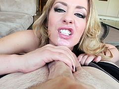 Tattooed porn stars gets wild giving Hardcore blowjob in POV
