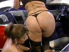 Bitch in huge breasts stroking my bitch