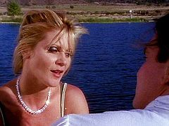 Ginger Lynn romantic fuck by the lake