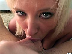 Hot Ass Blonde Hottie Naomi Cruise Ball Licking In POV Blowjob