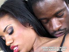 Sexy ebony fuck the first time she meet