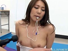 Luscious lesbian cougar masturbating with a vibrator