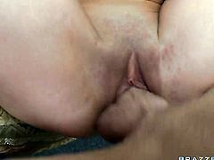 Jordan Ash is one hard-dicked guy who loves fucking Rebecca Blue with small boobs